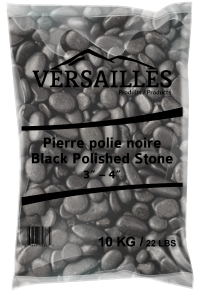 pierre polie noire 3-4